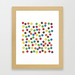 Cute Candy Chocolate Collage Framed Art Print