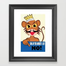 Monkey king says No! Framed Art Print