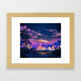 Night Sky Sunset Framed Art Print