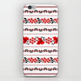 Ethno Ukrainian Pattern - Grape Guelder rose Oak - Symbol iPhone Skin