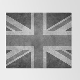 British Union Jack flag 1:2 scale retro grunge Throw Blanket
