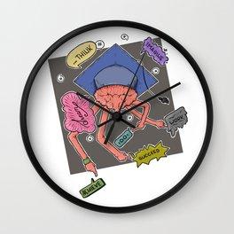 Graduation Hashtags Wall Clock