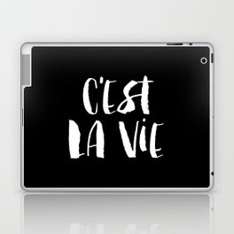 C'est La Vie black and white watercolor typography wall art home decor handwritten bedroom art inspo Laptop & iPad Skin