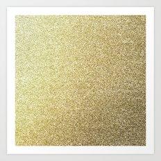 gold glitter Art Print