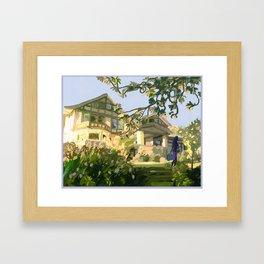 Seattle Historical Mansion Landscape Framed Art Print