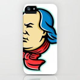 Benjamin Franklin Mascot iPhone Case