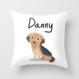 "Custom Dog Artwork, ""Danny"" Throw Pillow"