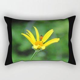 Yellow flower & visitor  Rectangular Pillow