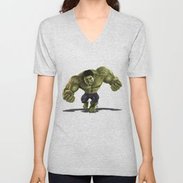 Caricature of Hulk Unisex V-Neck