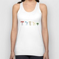 mushrooms Tank Tops featuring Mushrooms by Becky Gibson