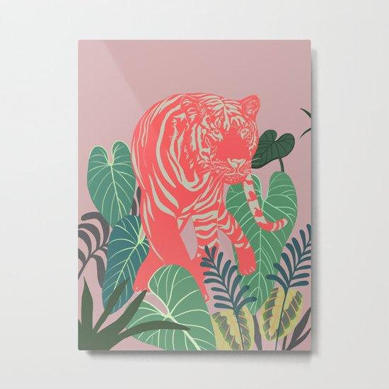 Aloha Tiger, Tiger print, Animal print, jungle print Metal Print