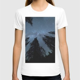 Celestial Starlight In The Forest Near Lake Irene Colorado T-shirt