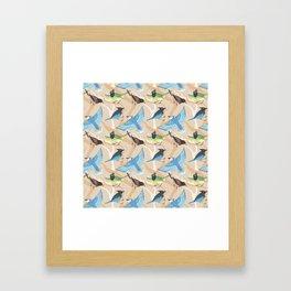 Jay Pattern Framed Art Print