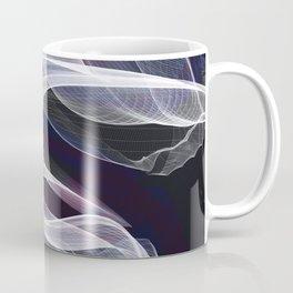 Moody & Beautiful Smoky lacy flux - black, blue, pink #abstractart Coffee Mug