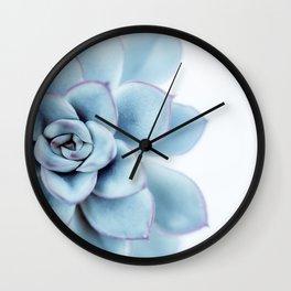 Blue Succulent #1 Wall Clock