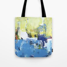 Parakeet Blue Yellow Abstract Art Tote Bag