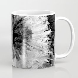 Black and White Tie Dye // Painted // Multi Media Coffee Mug