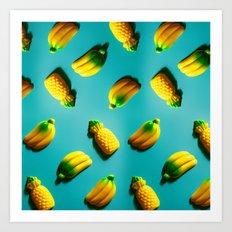 Ananas 'N Bananas Art Print