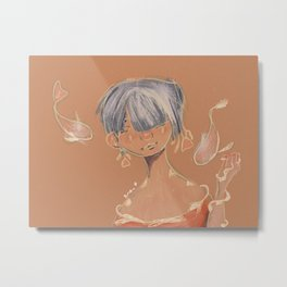 Koi Woman Metal Print