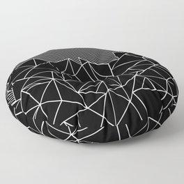 Ab Lines 45 Black Floor Pillow
