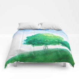 Mountain scenery 4 Comforters