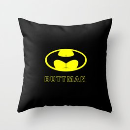 BUTTMAN Throw Pillow