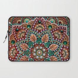 Bordo flower mandala Laptop Sleeve