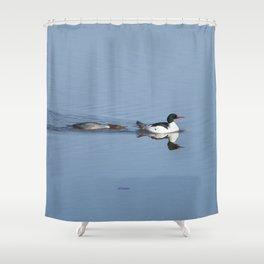 Mergansers on the Kenai Shower Curtain
