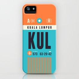 Baggage Tag A - KUL Kuala Lumpur Malaysia iPhone Case