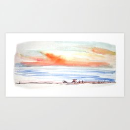 Sunset Sky by the Sea Art Print