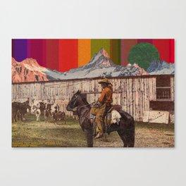 Rainbow Mt. Cowboy Canvas Print