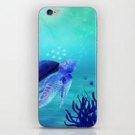Underwater friends iPhone Skin