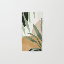 Abstract Art Tropical Leaves 4 Hand & Bath Towel