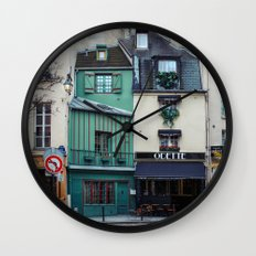 The Streets of Paris, France. Wall Clock