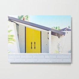 Yellow Door, Palm Springs Metal Print