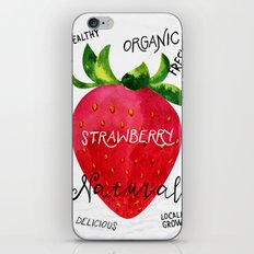 Watercolor strawberry iPhone & iPod Skin