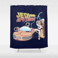 jedi Shower Curtains featuring JEDI IN THE FUTURE by Bamboota