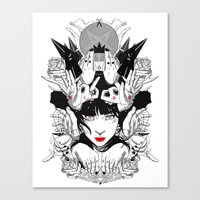 witchcraft Canvas Prints featuring Witchcraft by Sergio Saucedo