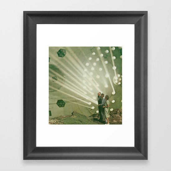 the light pours out of me Framed Art Print