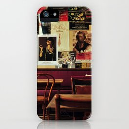 old coffee shope iPhone Case