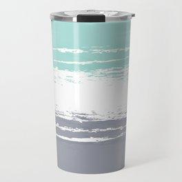Pastel Color Blocks - Teal & Petroleum Travel Mug