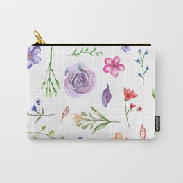 Dahlia - Watercolor Floral Style, Individual Watercolor Wedding Flowers Clipart Print Design Carry-All Pouch