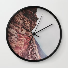 Person-like mountain formation Wall Clock