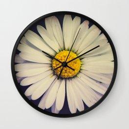 Twin Daises Wall Clock