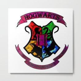 Hogwarts Logo Metal Print