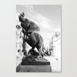 Elephant in Paris Canvas Print