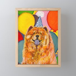 Chow Chow with Balloons Framed Mini Art Print