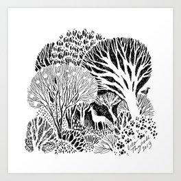 Garden Woods Art Print
