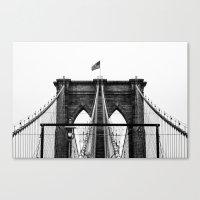 brooklyn bridge Canvas Prints featuring Brooklyn Bridge by Graham Dunk
