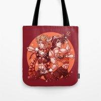 jjba Tote Bags featuring battle tendency by vvisti